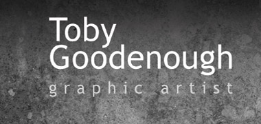Toby Goodenough, graphic artist, black texture